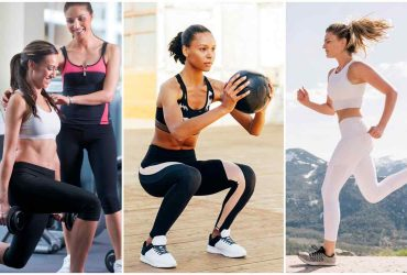 Sports bra and leggings set for exercise